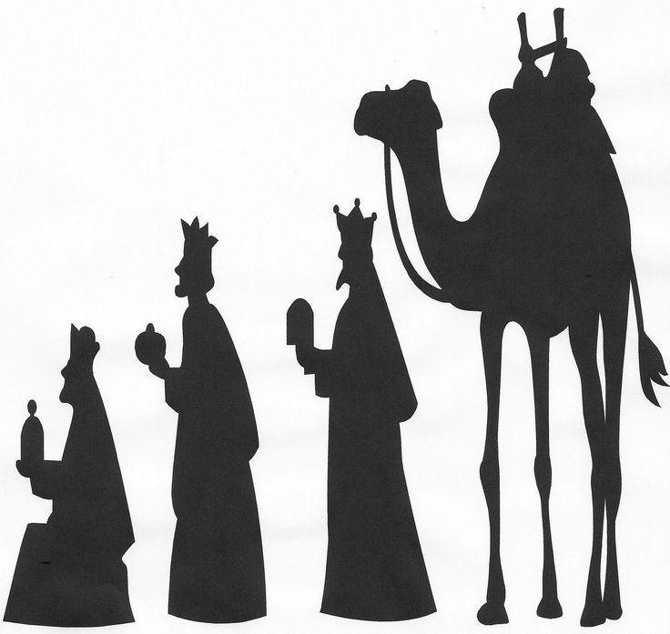 Nativity Scene Silhouette Printable