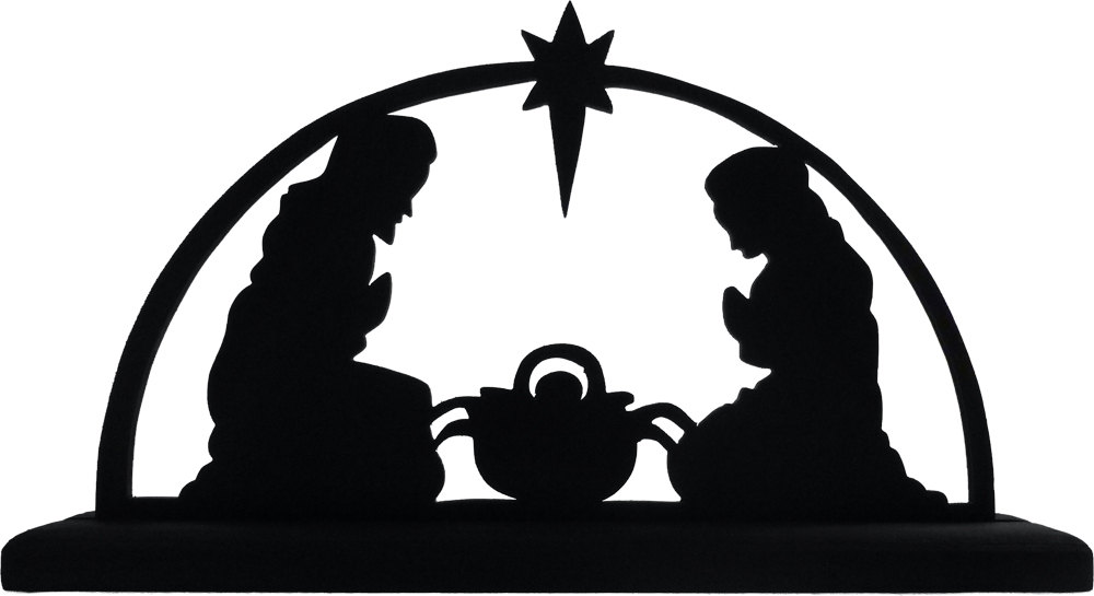 graphic about Nativity Clipart Free Printable called Nativity Scene Silhouette Printable at