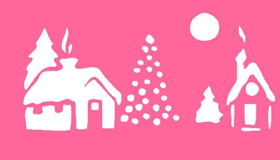 900x515 Christmas Scene Christmas Stencils Printable Merry Christmas