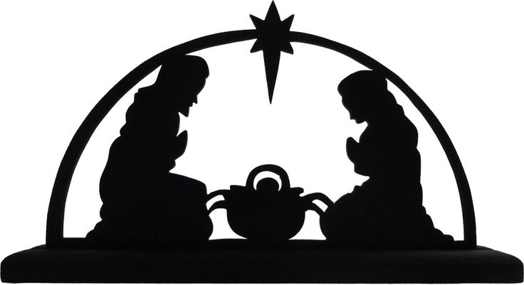736x401 Nativity Silhouette Template