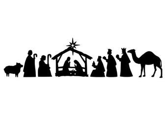 Nativity Scene Silhouette Template at GetDrawings.com ...