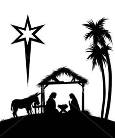 236x283 Baby Jesus In A Manger Silhouette Primitive Topper Stencil~ Baby