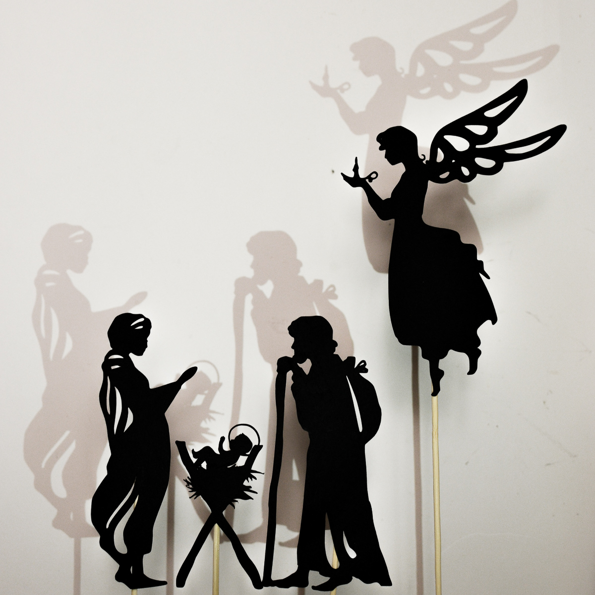 1200x1200 Christmas Nativity Scene Shadow Puppet Printables