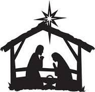 188x182 Easy Nativity Silhouette For Children Joseph, Mary And Baby Jesus