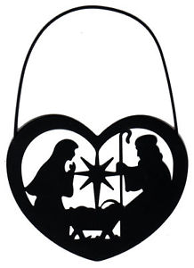 218x300 Christmas Religious Holy Family Nativity Heart Silhouette Black