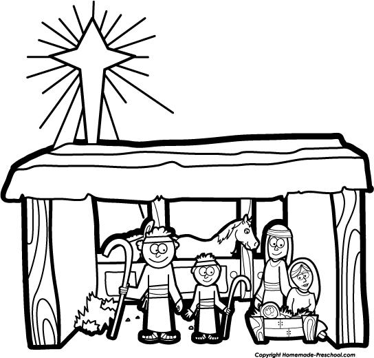 544x520 Nativity Clip Art Silhouette Free Clipart Images Clipartbold 3
