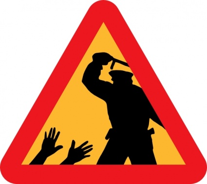425x377 Warning For Police Brutality Clip Art Vector, Free Vector Images