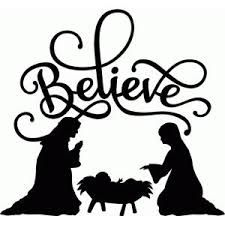 225x225 Lw Believe Nativity Nativity Silhouette, Silhouettes And Cricut