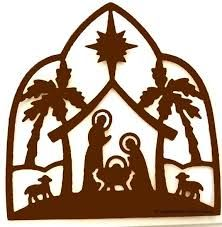 222x227 Nativity Silhouette Cutout
