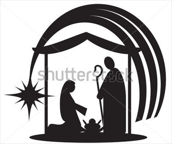 600x503 Nativity Silhouettes