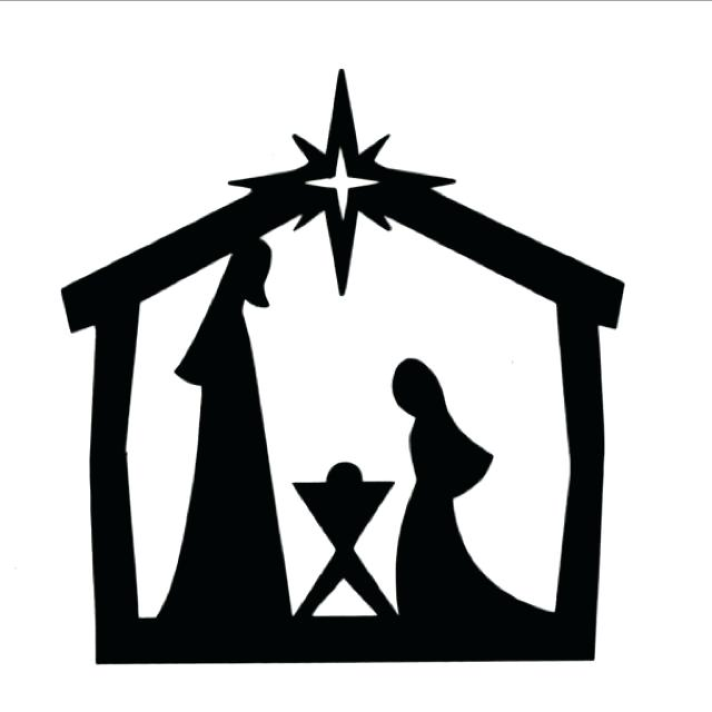 nativity silhouette free at getdrawings com free for personal use rh getdrawings com free christmas clipart manger scene free manager clipart