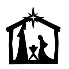 236x236 Nativity Pattern. Use The Printable Outline For Crafts, Creating