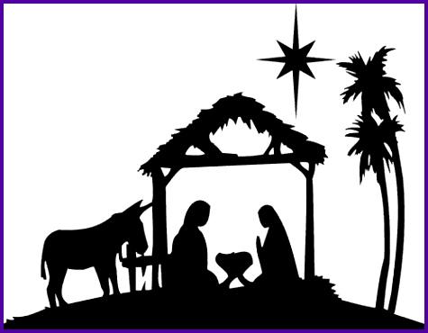 475x370 6 Nativity Scene Silhouette Pattern Free