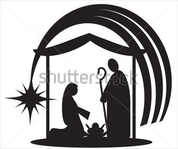 600x503 Nativity Silhouettes