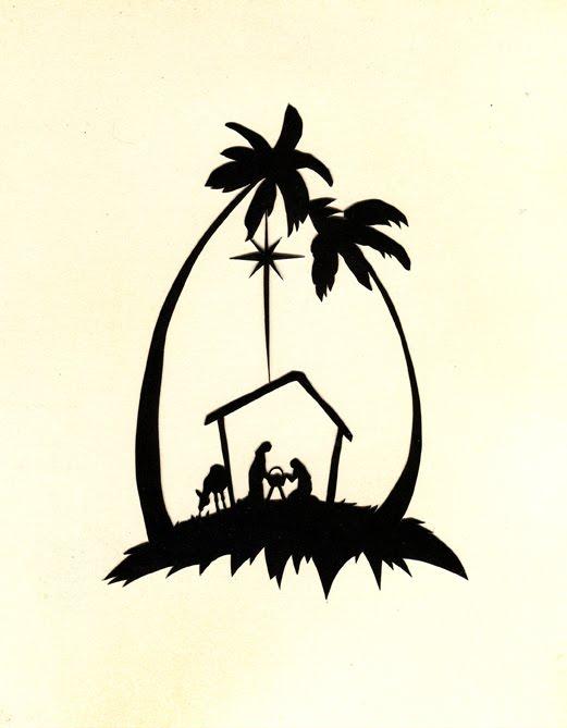 521x669 Nativity Silhouette Printable