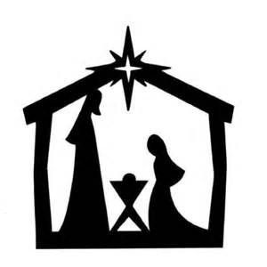 300x300 Printable Nativity Silhouette Clip Art