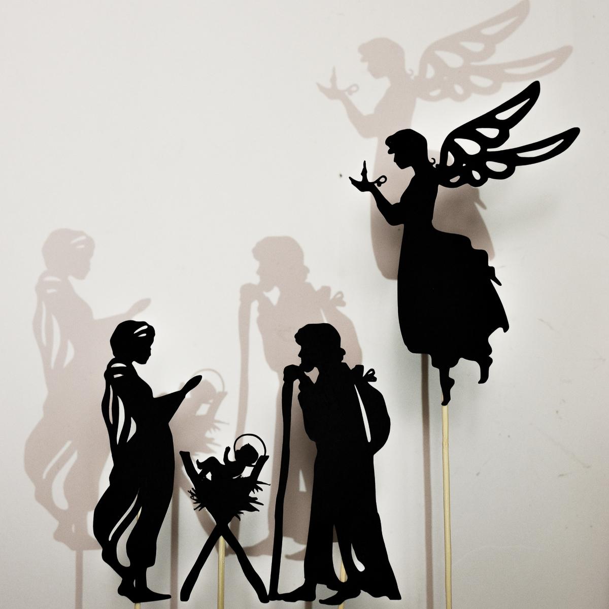 1200x1200 Christmas Nativity Scene Shadow Puppet Printables
