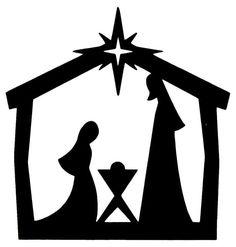 236x247 Free printable nativity silhouette patterns Silhouette Nativity