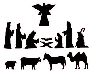 320x258 Free Nativity Silhouettes For Shadow Puppets. Christmas Time