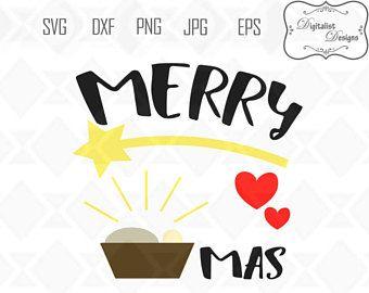 340x270 Merry Christmas Svg, Nativity Svg, Nativity Clipart, Jesus Clipart