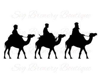Nativity Silhouette Template
