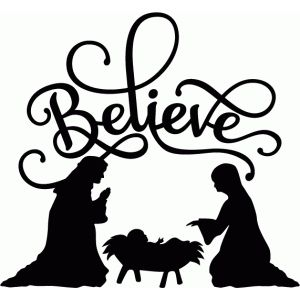 Nativity silhouette template at getdrawings free for personal 300x300 the best christmas vinyl decals you can find holidays maxwellsz