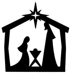 Nativity Stable Silhouette