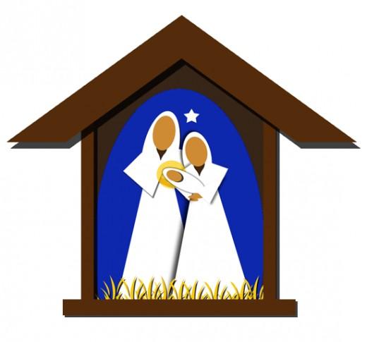 520x485 Nativity Scene Clipart Free