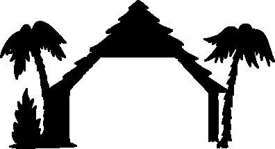 396x215 Nativity Silhouette Shelter For Papercraftwindowtemplate