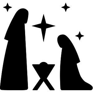 300x300 Image Result For Free Printable Silhouette Of Nativity Scene