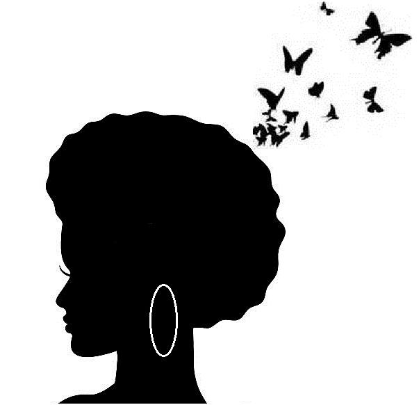 603x582 Pix For gt Natural Black Hair Silhouette art Pinterest