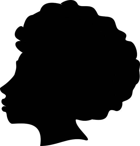 570x597 Afro Silhouette Svg Clip Art Afro Natural Hair Png Files