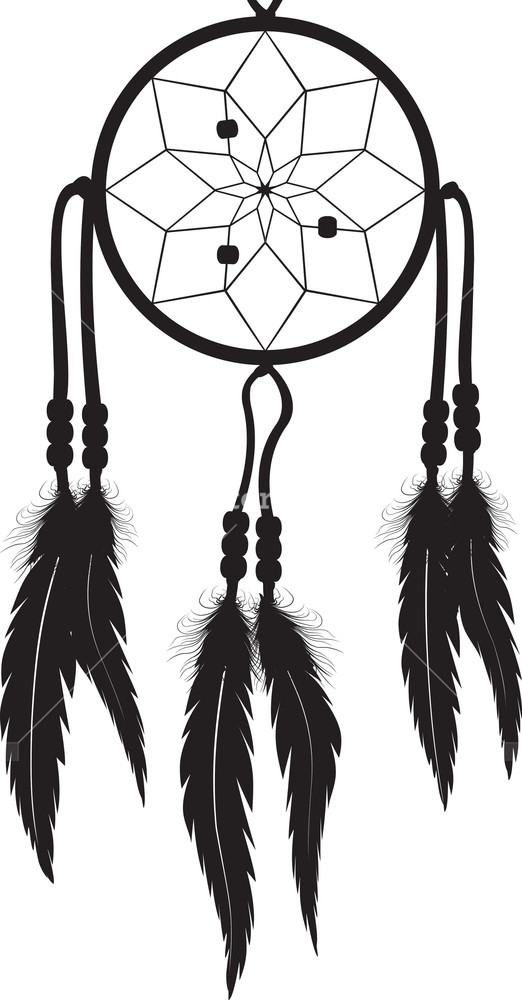 522x1000 Dreamcatcher Silhouette Royalty Free Stock Image