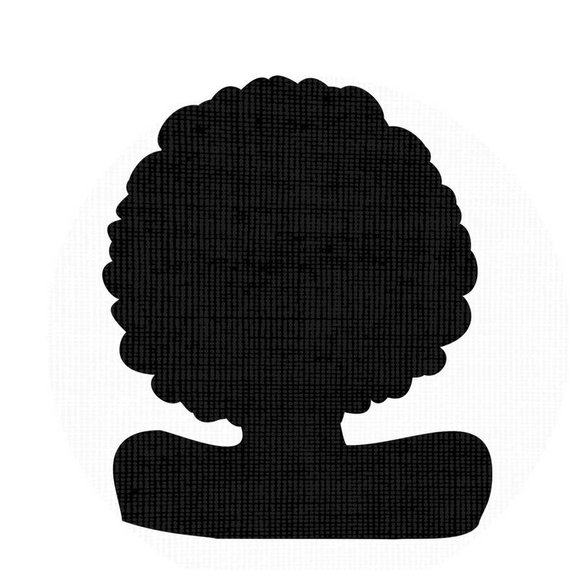 570x570 Afro Svg Silhouette Clip Art Afro Natural Hair Png Files