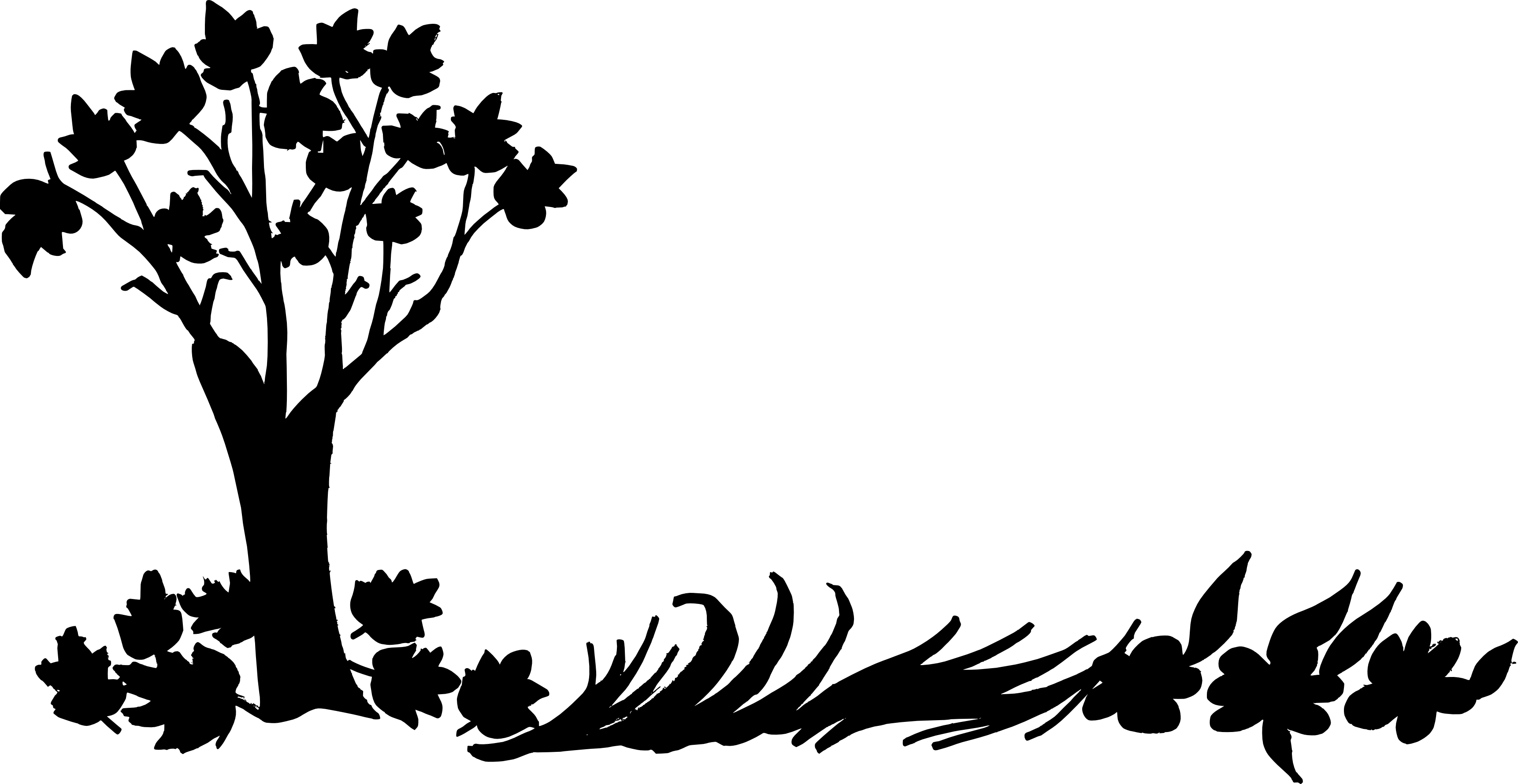 3445x1780 10 Nature Background Silhouette (Png Transparent)