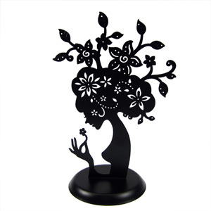 300x300 Mother Nature Tree Jewelry Stand Black Cut Out Metal Silhouette