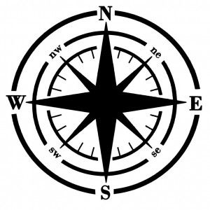 Nautical Compass Silhouette