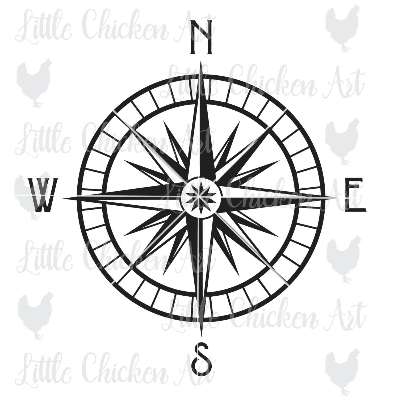 1482x1500 Nautical Compass Svg File Cut File Clip Art Silhouette