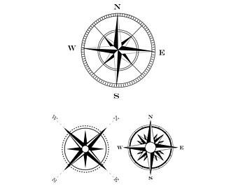 340x270 Nautical Compass Etsy