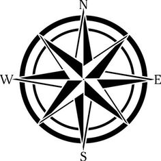 236x235 Vector Illustration Of A Compass Rose, Done In A Woodcut Style