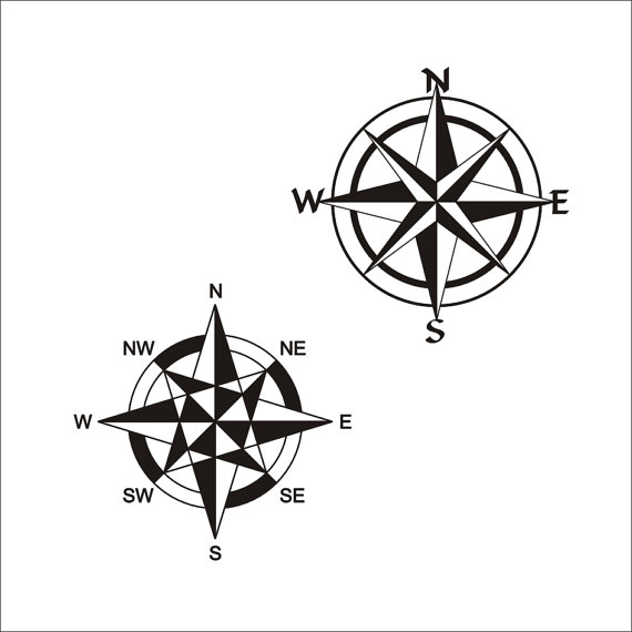 570x570 Compass Rose Cuttable Designs Svg, Dxf, Eps Use With Silhouette
