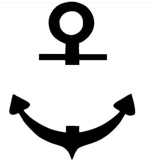 502x544 Free Vector Graphic Anchor Silhouette Black Nautical Clipart