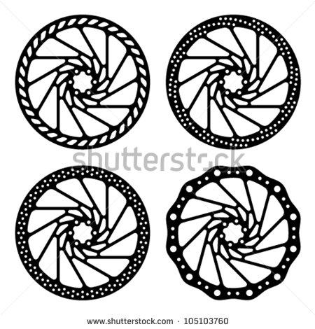 450x470 Vector Bike Brake Disc Black Silhouette