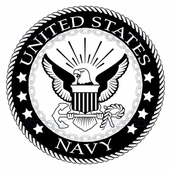 700x700 Us Navy Large Back Patch Black Amp White For Vest Jacket 10 Inch