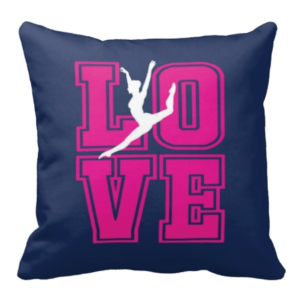 600x600 Dance Love Silhouette Throw Pillow For Girls And Teens Shop