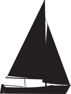 229x300 Sail Boat Silhouette Royalty Free Stock Image