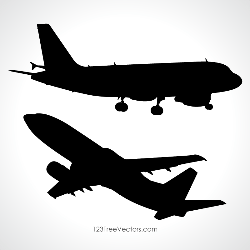800x800 Aeroplane Vector Silhouette 123freevectors