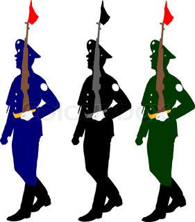 281x320 Military Man In Uniform Sketch Symbol With Hand Grenade, Body