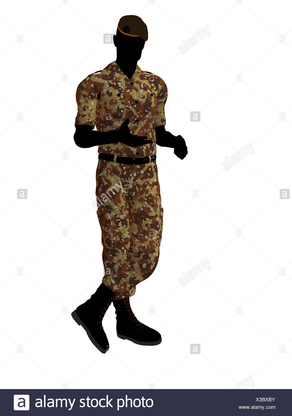 975x1390 Soldier Silhouette Illustration Stock Photos Amp Soldier Silhouette