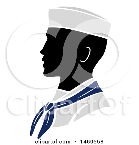450x470 Clipart Of A Silhouetted Male Army Soldier In Profile